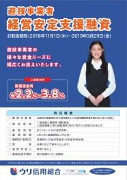 【遊技事業者経営安定支援融資】